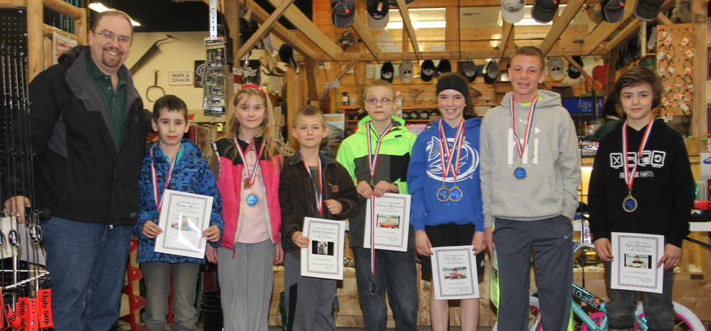 Soldotna Hardware & Fishing awards winners of Annual Ice Fishing Derby