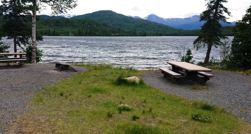 Many campsites on the Refuge include picnic tables and fire pits for campers to utilize during their stay. These sites at Upper Ohmer await campers this weekend. (Photo credit Nick Longobardi/USFWS)