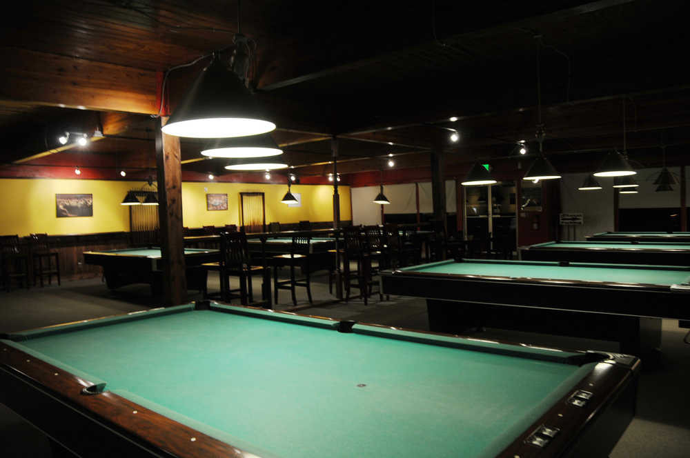 Photo by Elizabeth Earl/Peninsula Clarion Sharps Billiards, 11888 Kenai Spur Highway, has reopened under new management after closing in 2014.
