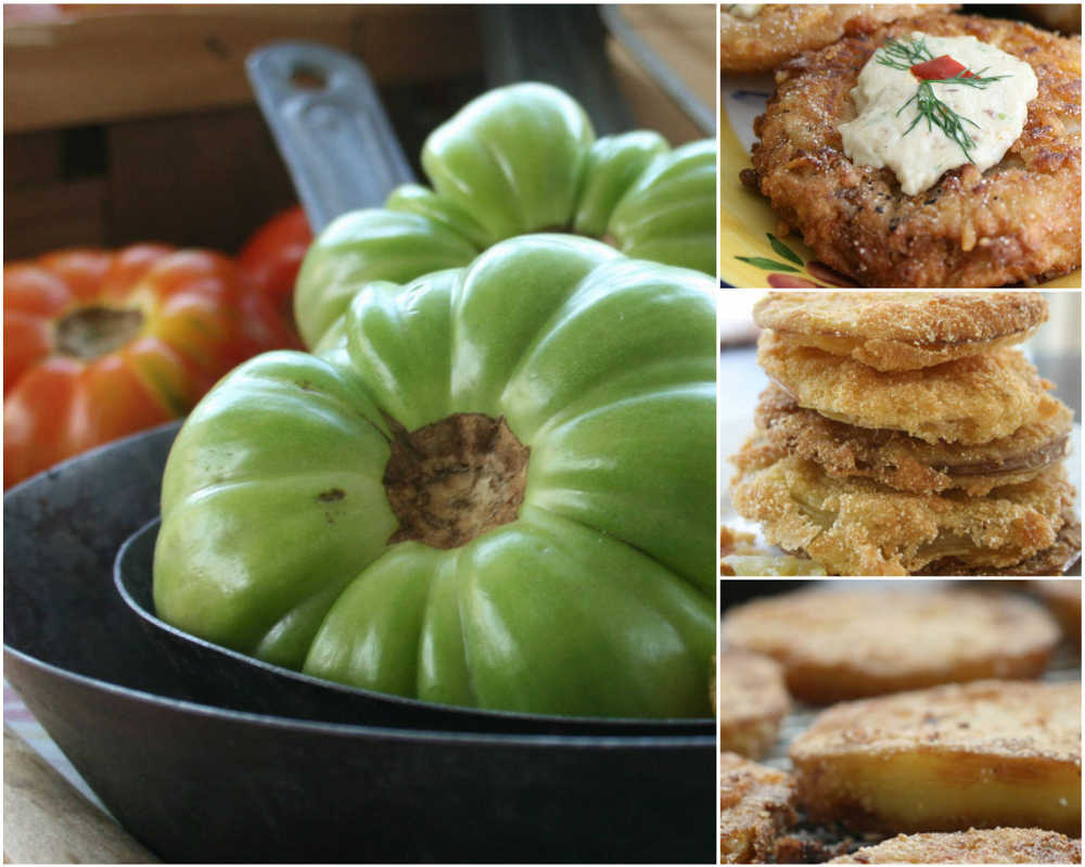 With the season for growing tomatoes here, you'll surely want to try recipes for Fried Green Tomatoes with Bacon Dipping Sauce, Southern Fried Green Tomatoes and Middle Tennessee-style Fried Green Tomatoes, pictured top to bottom, right.