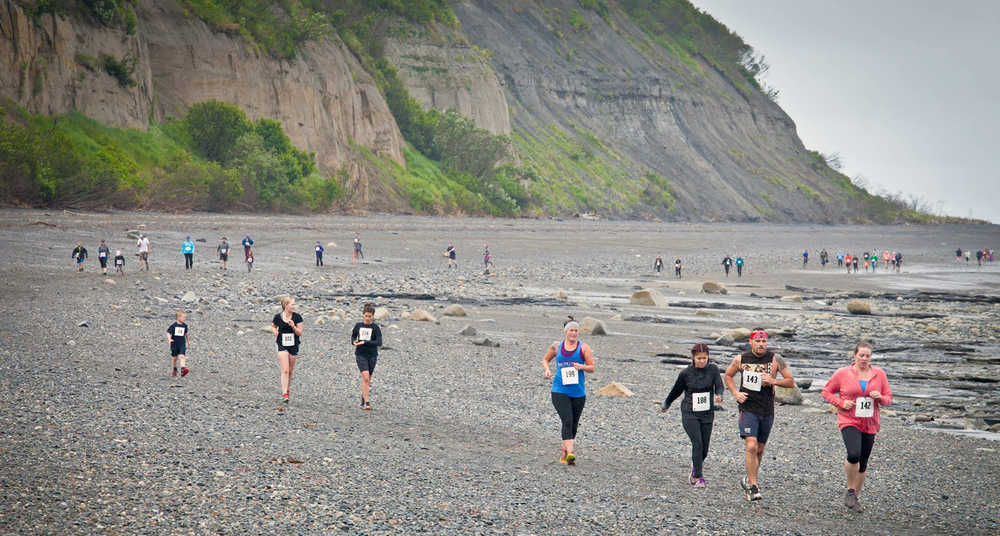 Photo provided by Maureen Todd Runners take off at the start of the 2nd Annual Ninilchik Chamber of Commerce Clam Scramble on Saturday in Ninilchik.