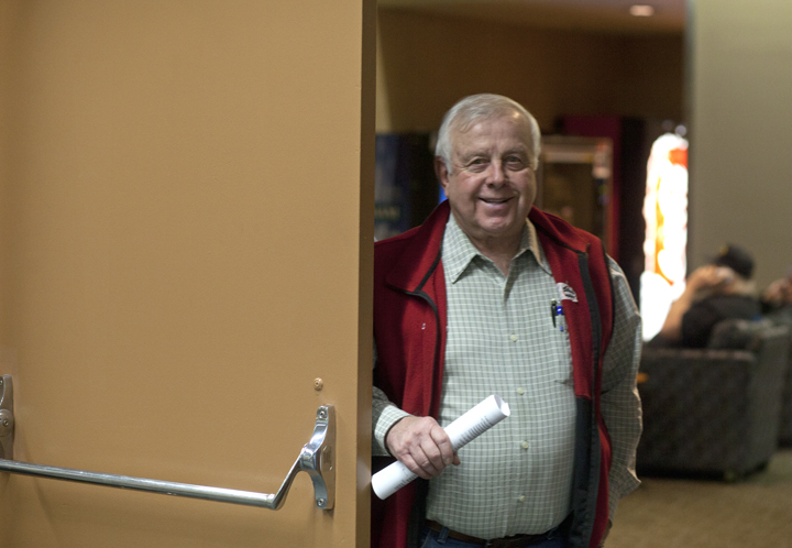 In this Feb. 10, 2014 file photo Roland Maw, former executive director of the United Cook Inlet Drift Association, walks into a conference room during an Alaska Board of Fisheries meeting. Maw was appointed by Gov. Bill Walker to the Board of Fisheries, however he withdrew his name from consideration on Feb. 20 after allegations surfaced over his residency status in Montana and Alaska. Montana officials have charged Roland Maw with seven counts of filing false statements to obtain resident licenses in the state.