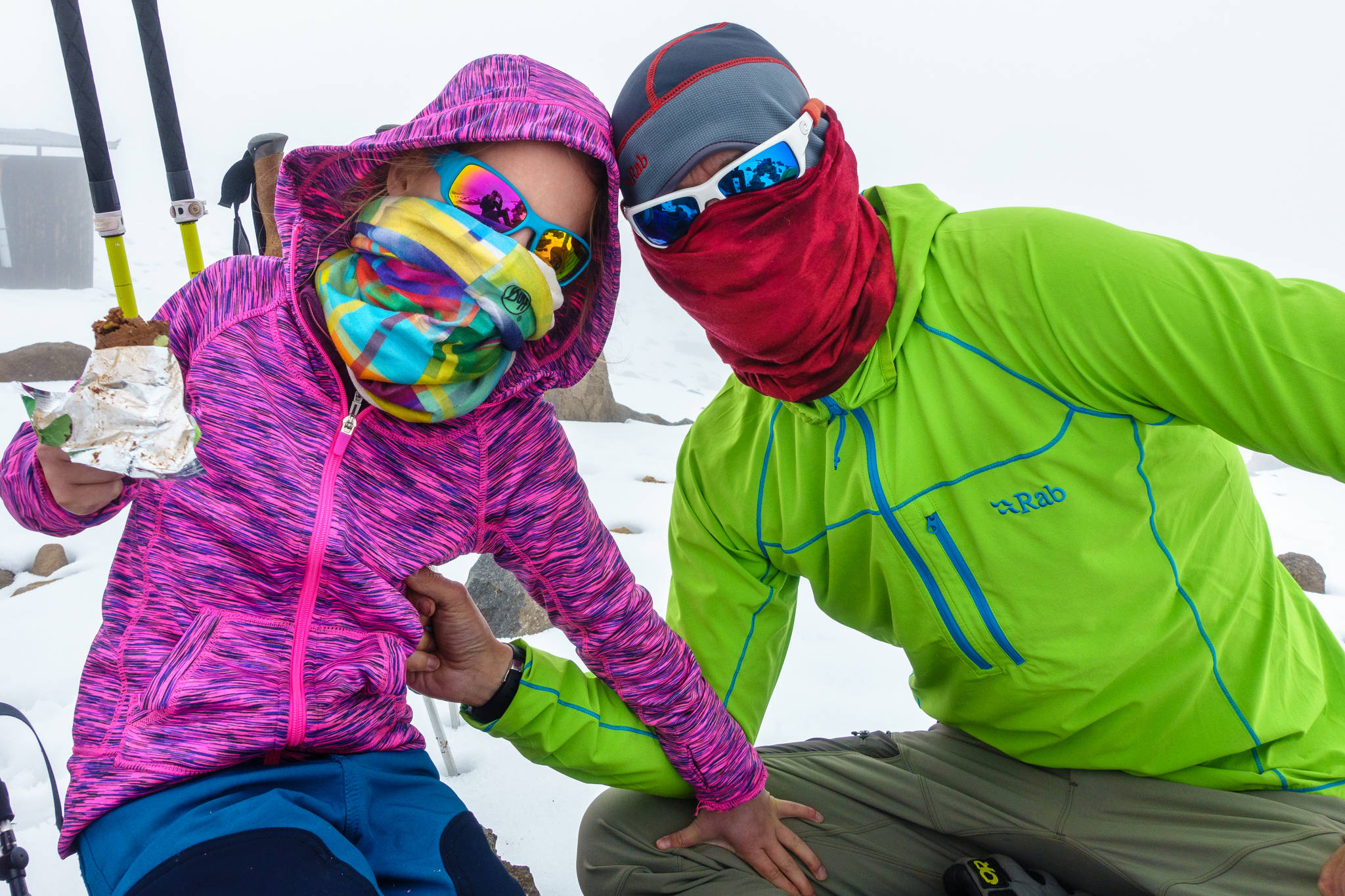 Avery Walden, then 9, poses with her father Chris Walden on the side of Mt. Kilimanjaro in Tanzania on Jan. 4, 2017. The Waldens and a family friend climbed the famous mountain in January, making Avery the youngest female to ascend the mountain. (Photo courtesy Chris Walden)
