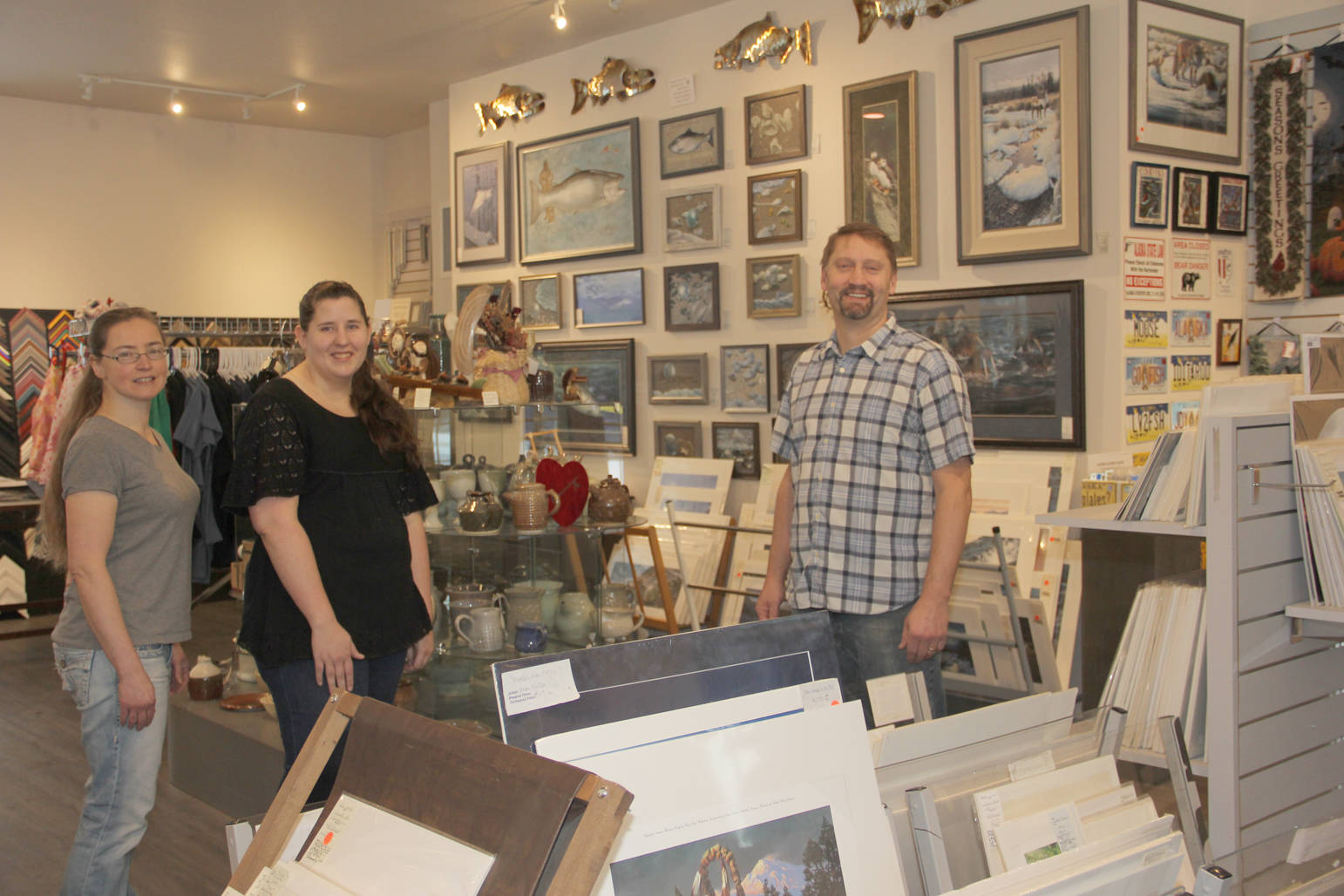 Tasha, Heather and Brian welcome you to the new Frames & Things on Whistle Hill.