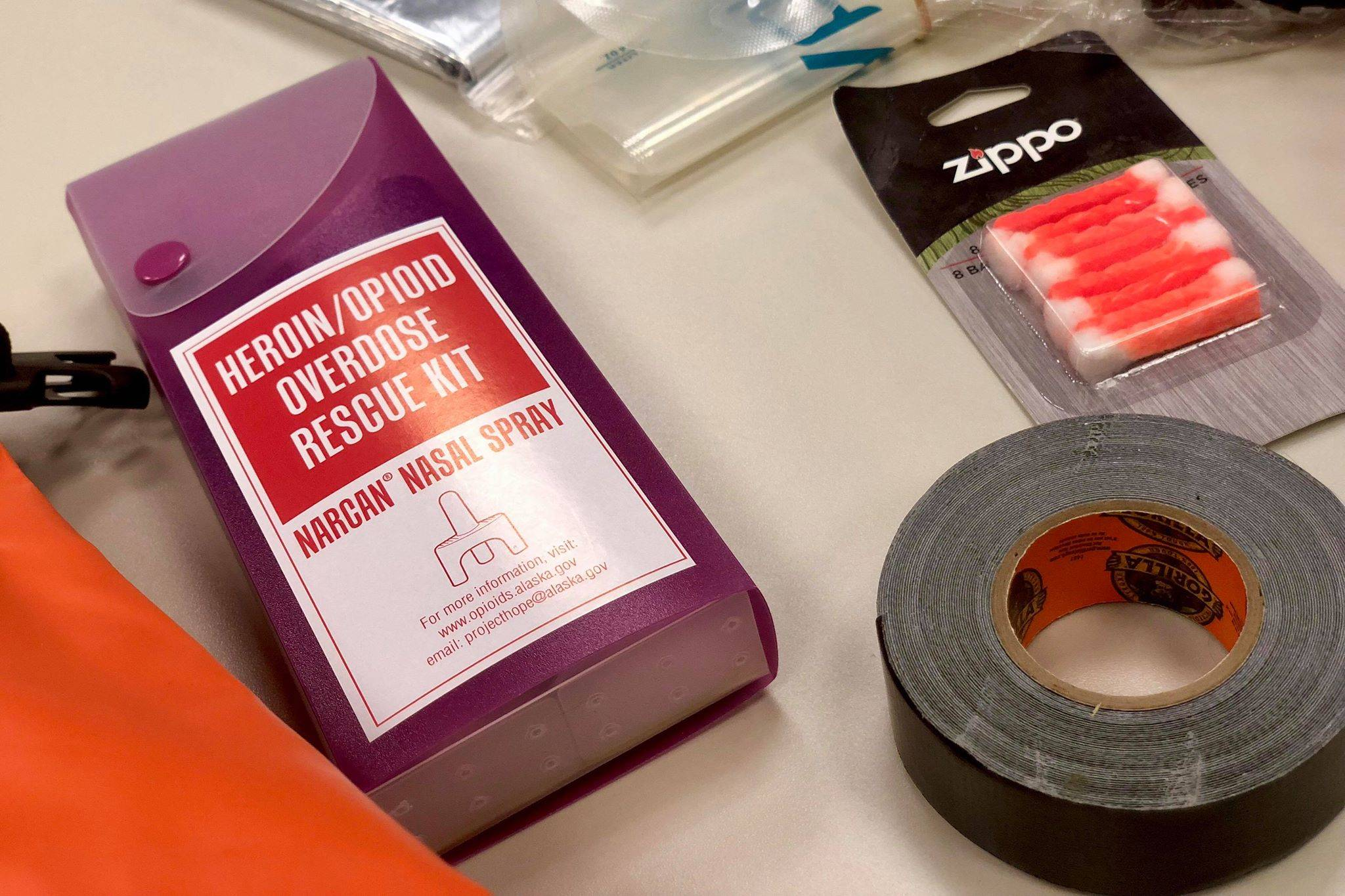A Narcan kit can be used to reverse the effects of an opioid-related overdose, on Thursday, Oct. 18, 2018, in Kenai, AK. (Photo by Victoria Petersen/Peninsula Clarion)