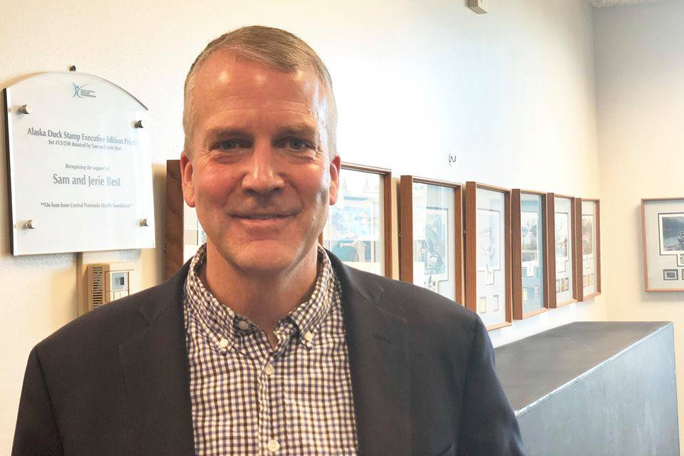 Senator Dan Sullivan spoke at a joint Soldotna, Kenai Chamber Luncheon, Thursday, Nov. 8, 2018, in Kenai, Alaska, at the Kenai Visitor's Center. (Photo by Victoria Petersen/Peninsula Clarion)