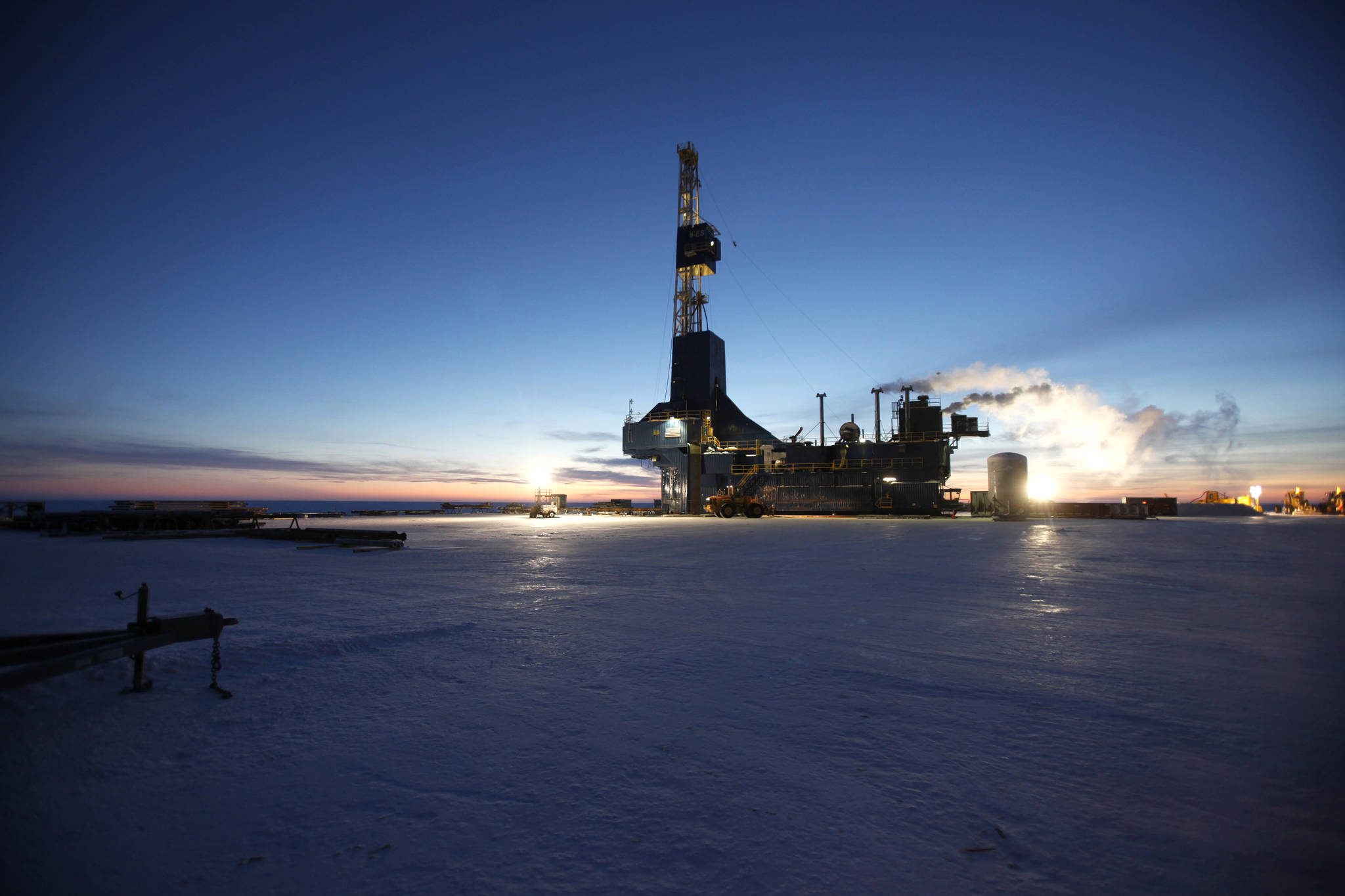 A drill rig works in the Colville Delta operations in 2014. (Photo/Courtesy/Repsol)