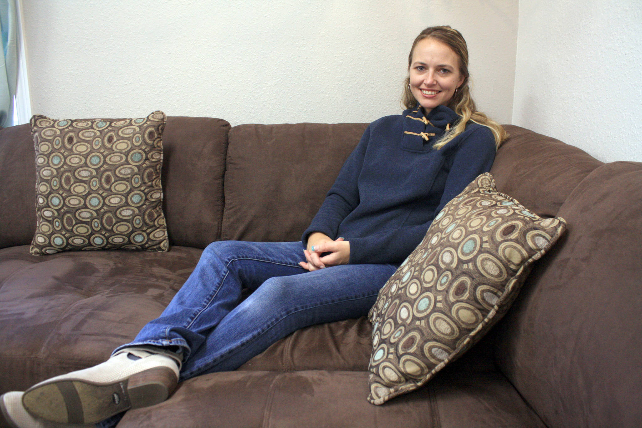 Freedom House founder Jennifer Waller is photographed at the women's recovery home in March 2018. Waller is hoping to open a men's recovery facility in early 2019. (Photo by Erin Thompson/Peninsula Clarion)