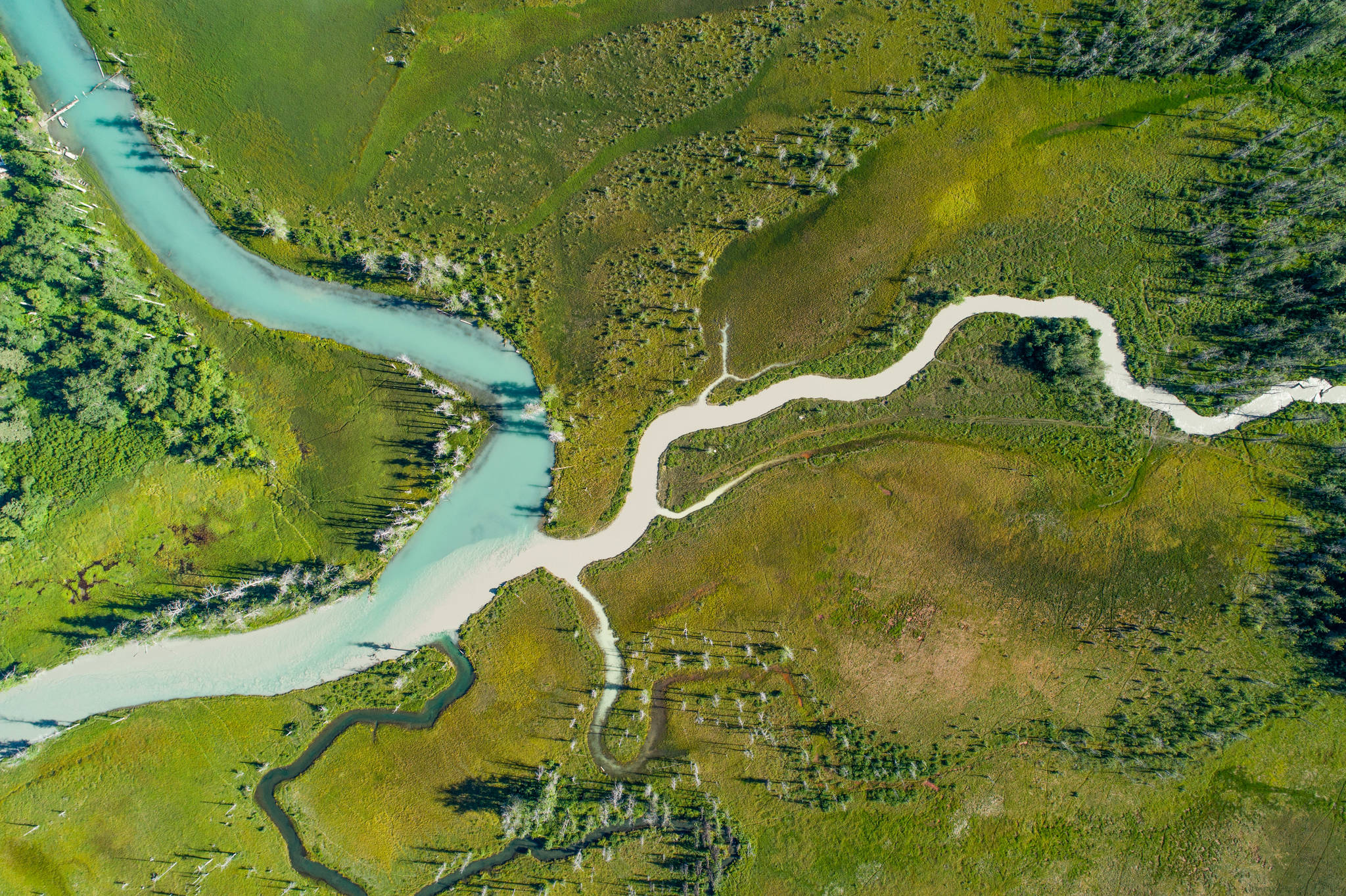 "An aerial shot of the Chilkat Lake taken during the making of ""Rock, Paper, Fish."" (Courtesy Photo 