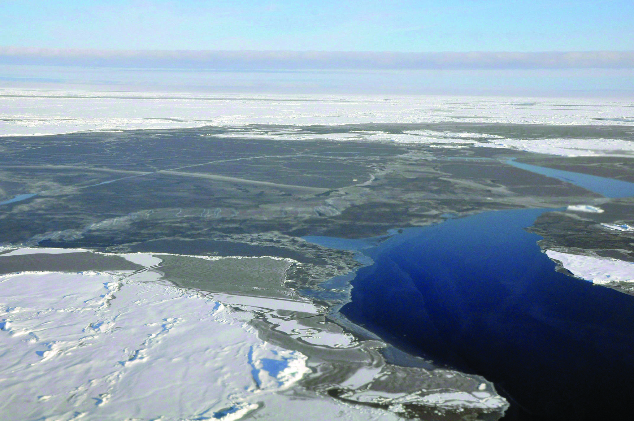 This 2014 photo provided by NOAA shows Arctic ice coverage. Scientists say Arctic sea ice has reached a record winter low again.The U.S.-based National Snow and Ice Data Centre says it's the second year in a row that the amount of sea ice at the end of winter was less than any year since satellite monitoring began. THE CANADIAN PRESS/AP/NOAA