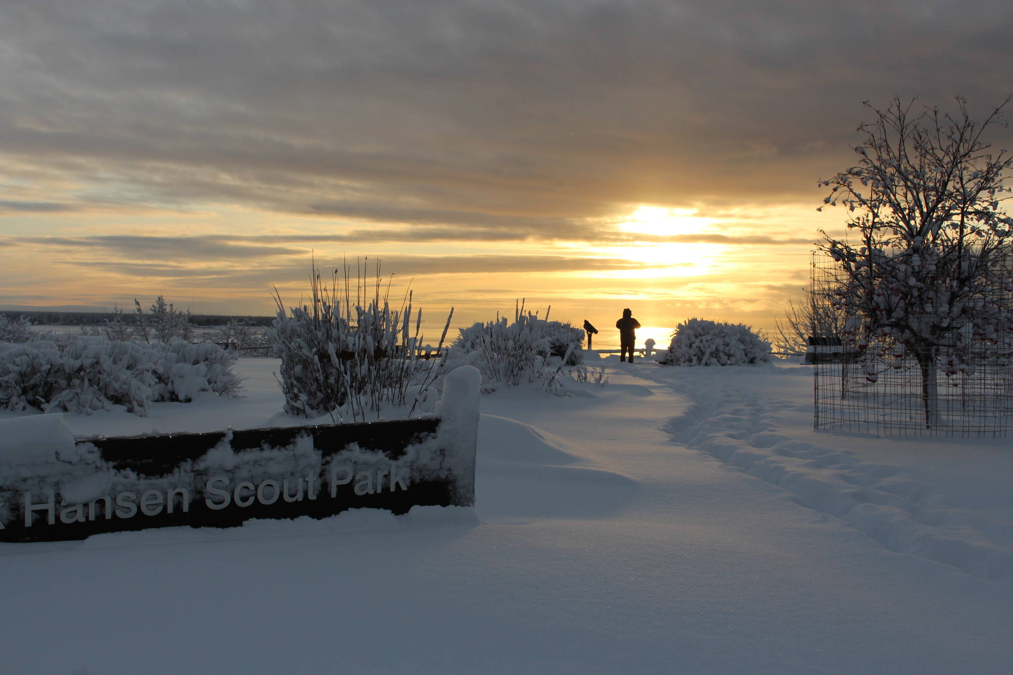 Erik Hansen Scout Park can be seen here in Kenai, Alaska on Dec. 3, 2019. (Photo by Brian Mazurek/Peninsula Clarion)