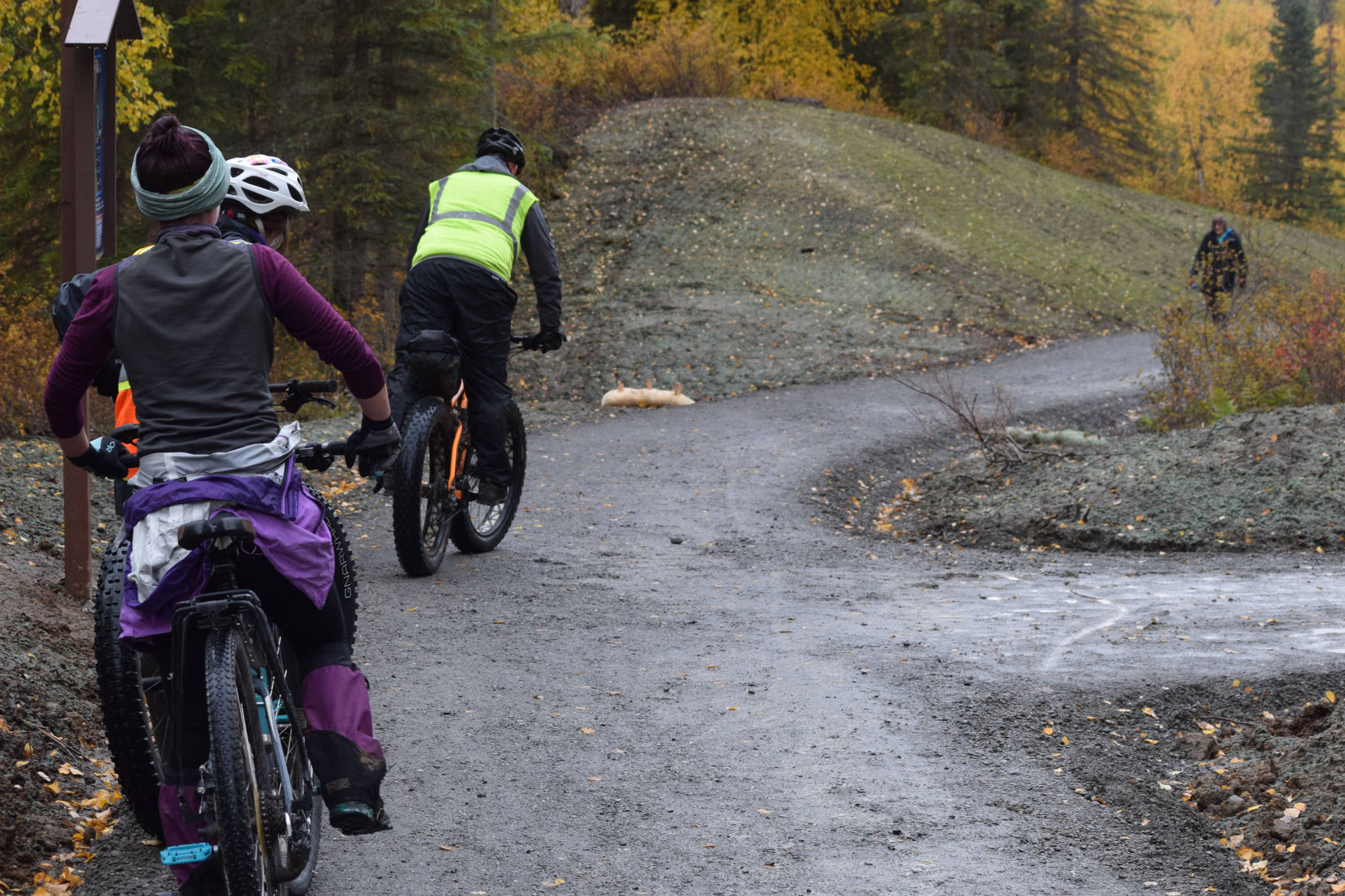 Bicyclists are seen on the Ski Hill Multi-use Trail on Saturday, Sept. 26 just outside Soldotna, Alaska.                                 Bicyclists are seen on the Ski Hill Multi-use Trail on Saturday, Sept. 26 just outside Soldotna, Alaska.