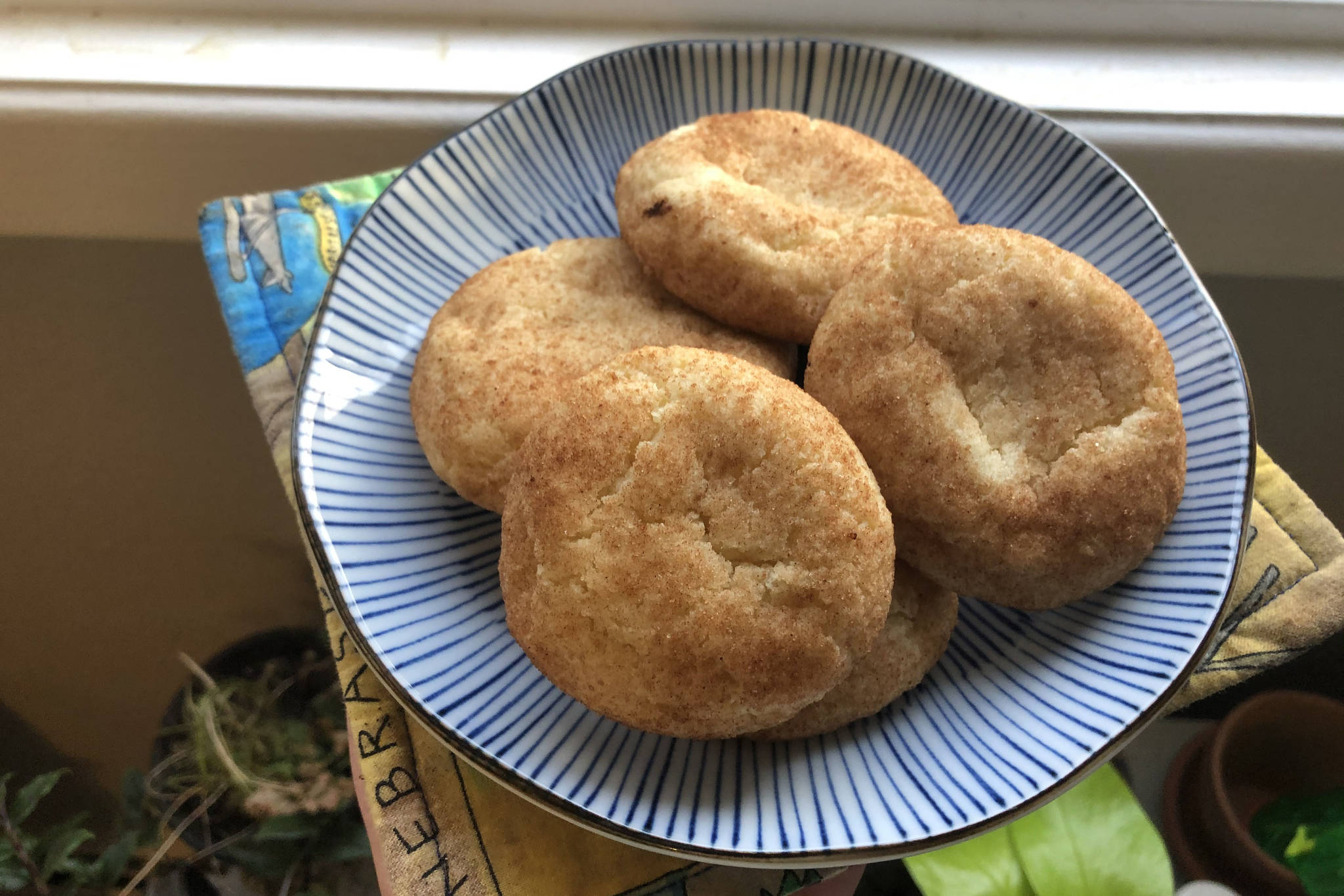 Snickerdoodle cookies have a distinct cinnamon sugar scrawled shell, photographed on Saturday, Oct. 10, 2020, in Anchorage, Alaska. (Photo by Victoria Petersen/Peninsula Clarion)