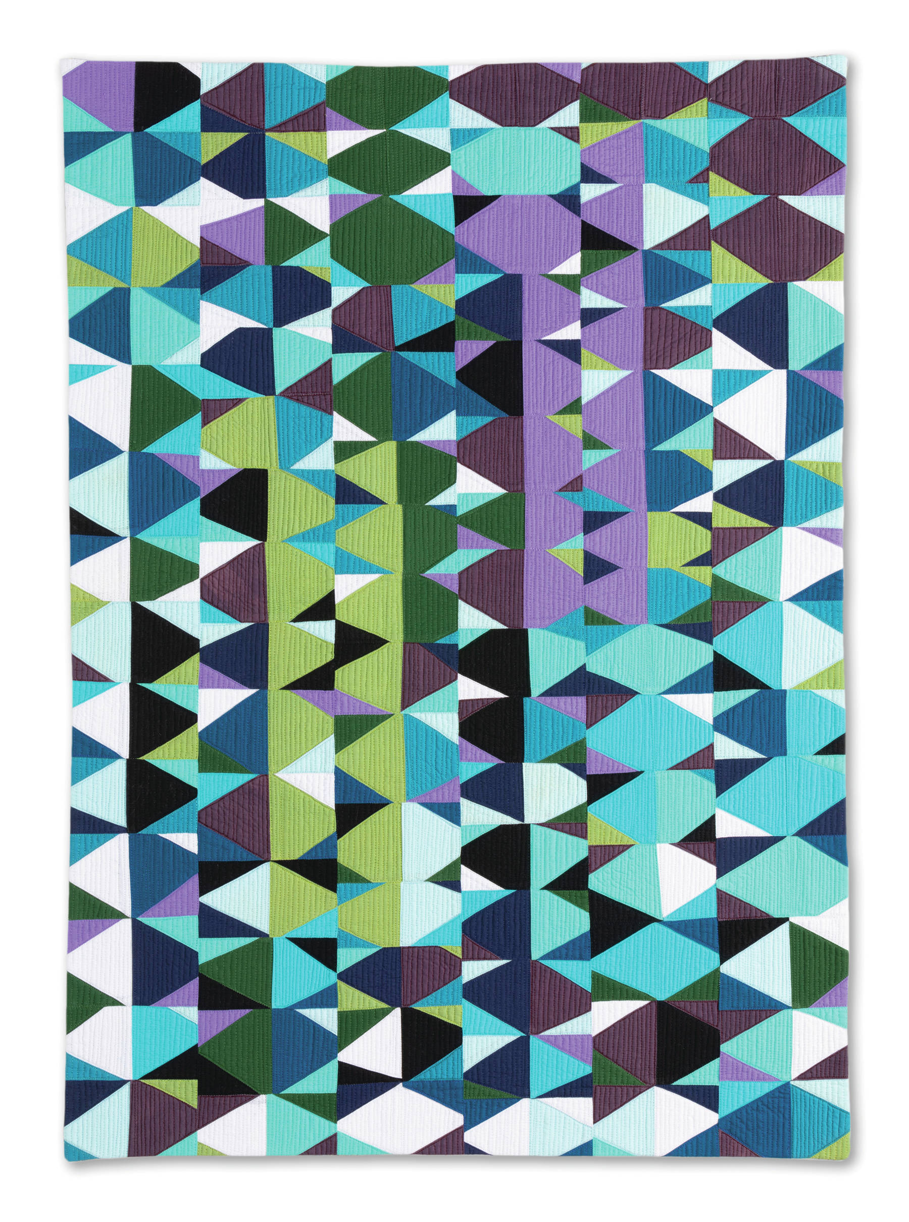 """Maria Shell's """"Break Up,"""" one of the 45 art quilts featured in """"Shifting Tides: Cloth in Convergence,"""" on exhibit from Oct. 9 to Nov. 28, 2020, at the Pratt Museum in Homer, Alaska. (Photo by Chris Arend)"""