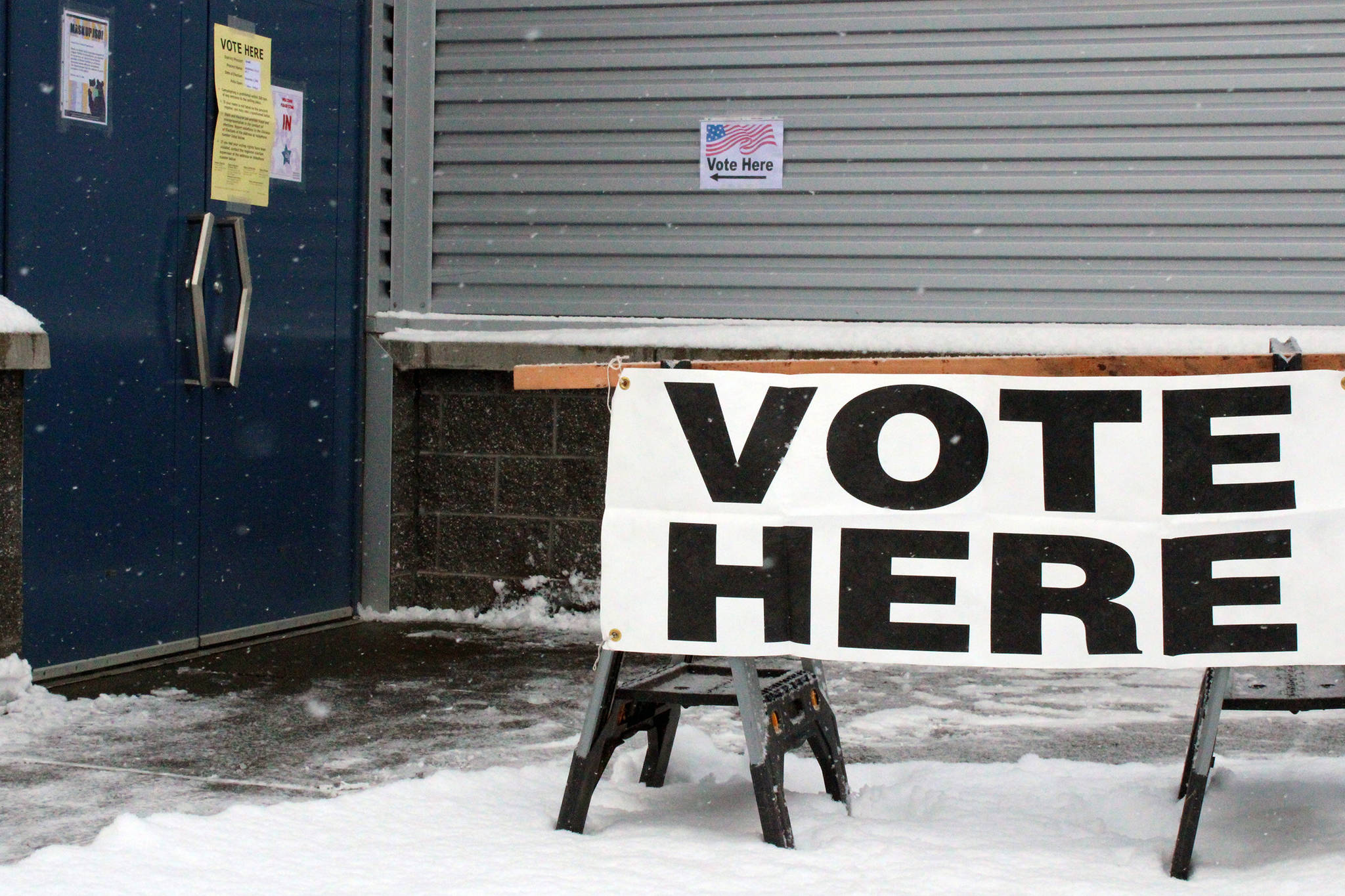 Thunder Mountain High School was used as a polling place on Election Day, Nov. 3, 2020. (Ben Hohenstatt / Juneau Empire)