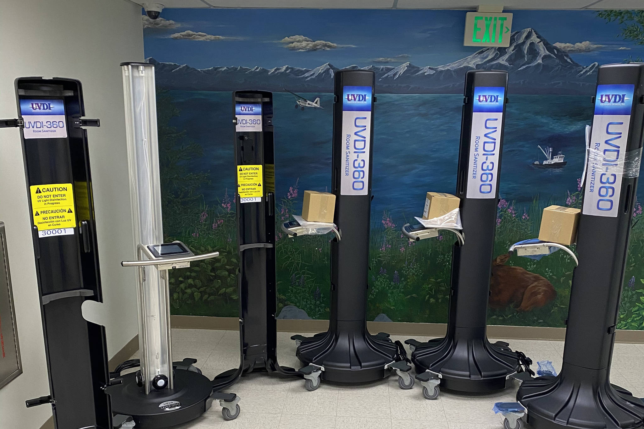 Photo courtesy of Bruce Richards UV light disinfection systems are pictured at Central Peninsula Hospital in Soldotna.