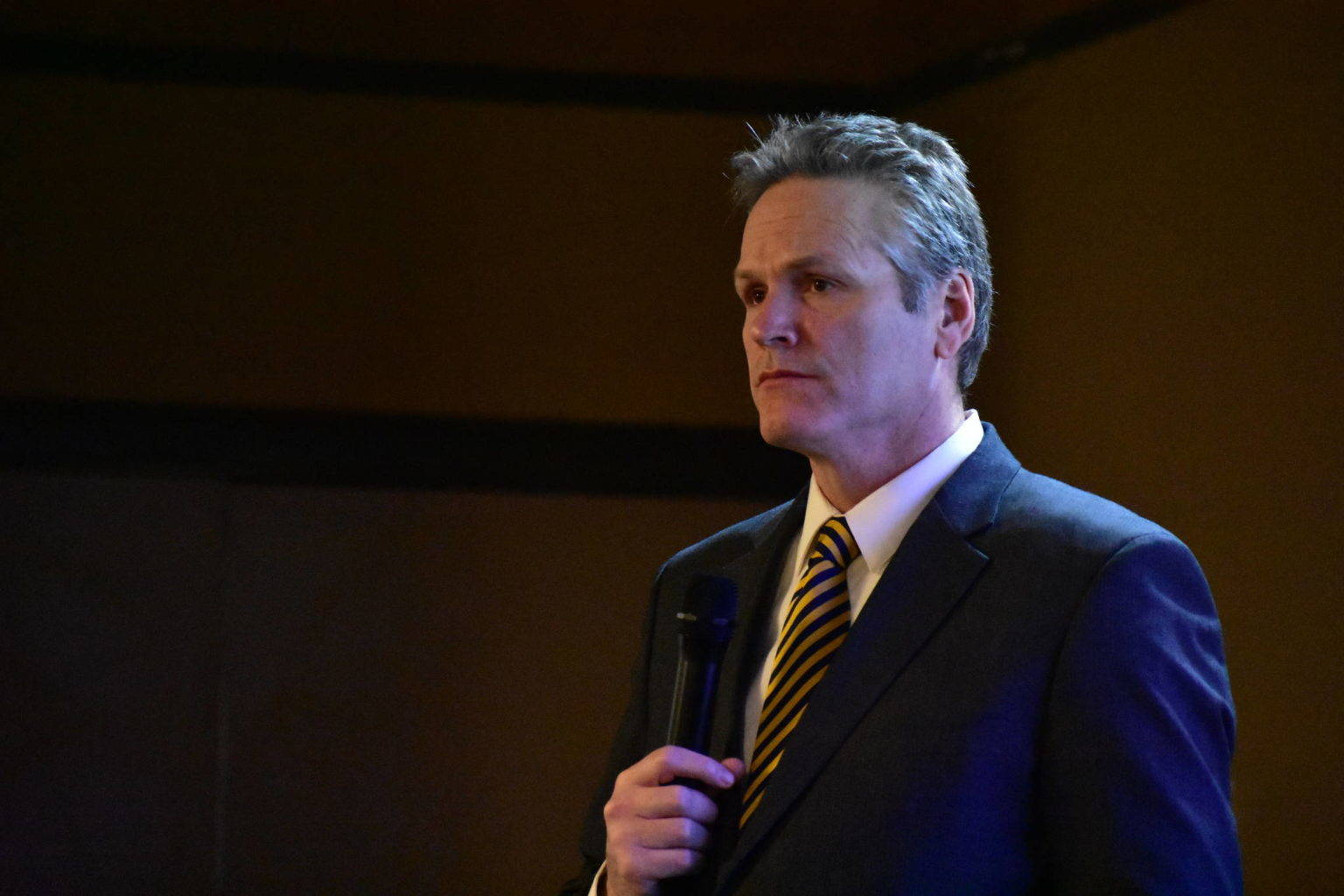Gov. Mike Dunleavy addresses the public during a virtual town hall on Sept. 15, 2020 in Alaska. Dunleavy went into self-quarantine Monday following news a close contact had tested positive for COVID-19. (Courtesy Photo / Office of the Governor)