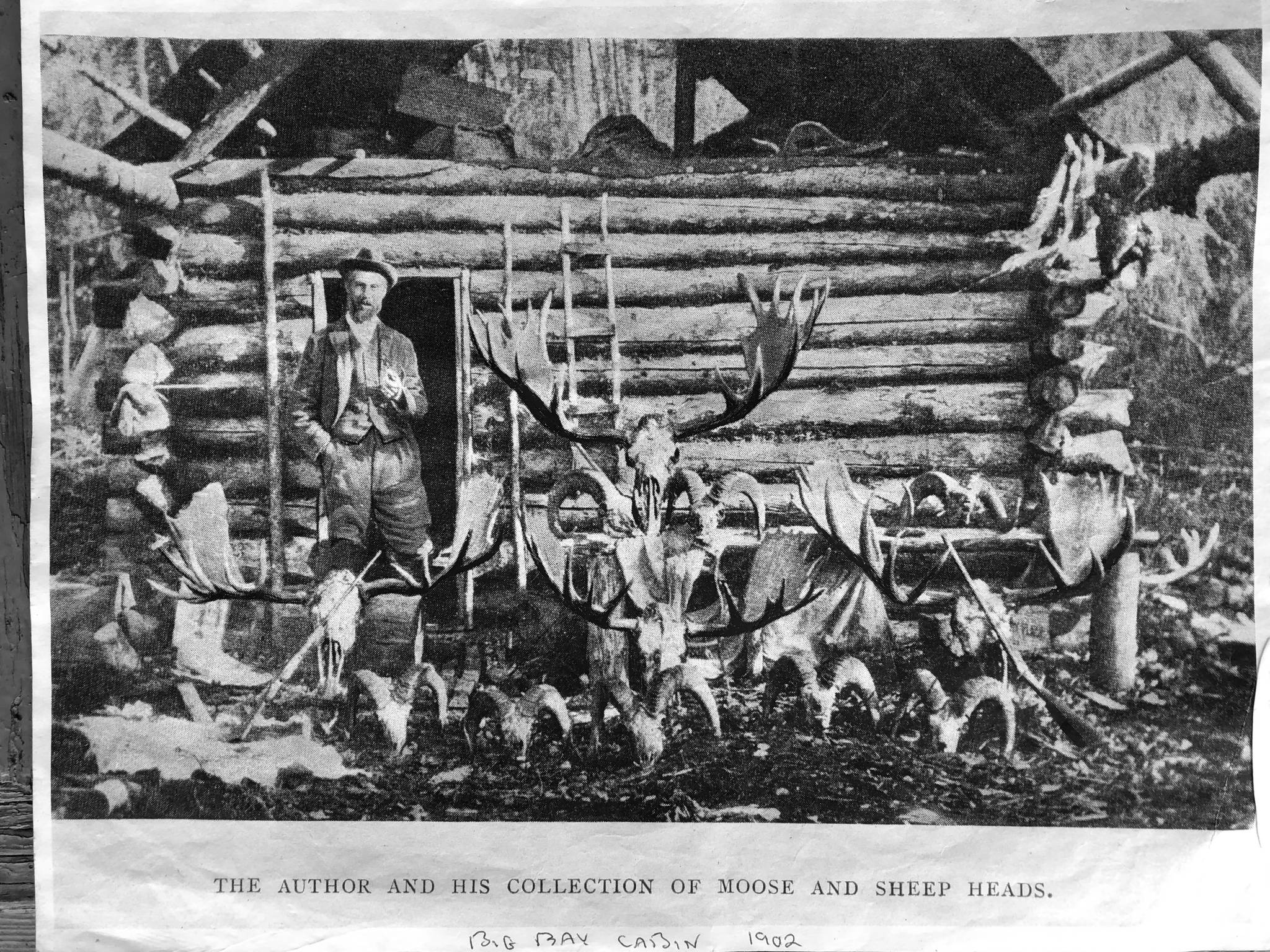 The Big Bay Cabin today looks just like it did in 1902, but without the skulls of Dall sheep and moose. (Photo provided by refuge)