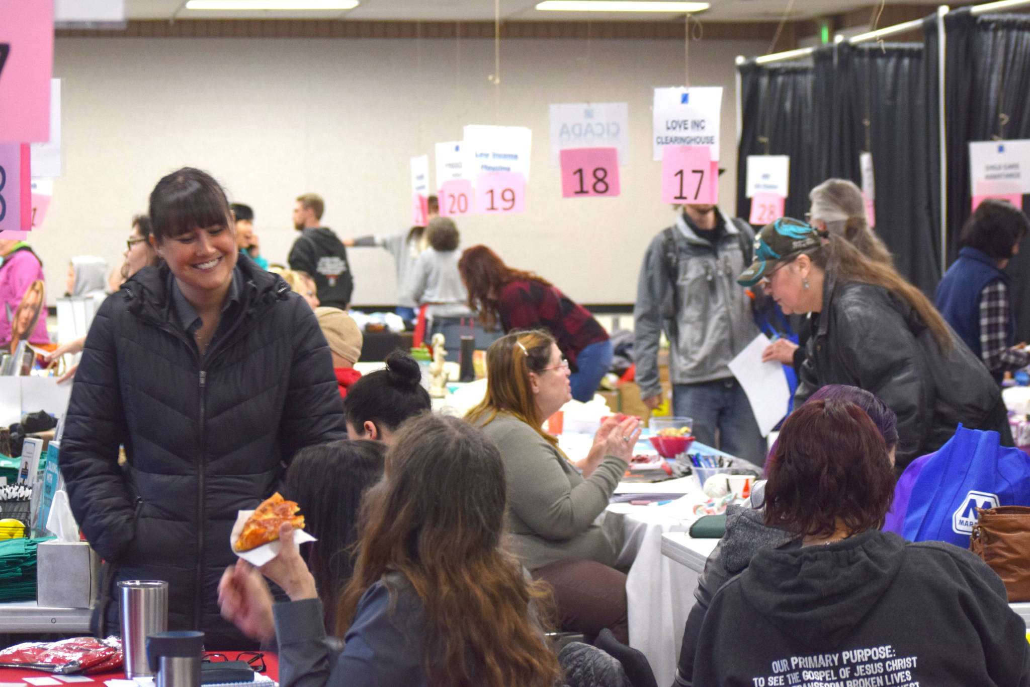 Project Homeless Connect organizers provide services on Jan. 23, 2019, in Soldotna, Alaska, during the annual outreach event. (Photo by Brian Mazurek/Clarion file)
