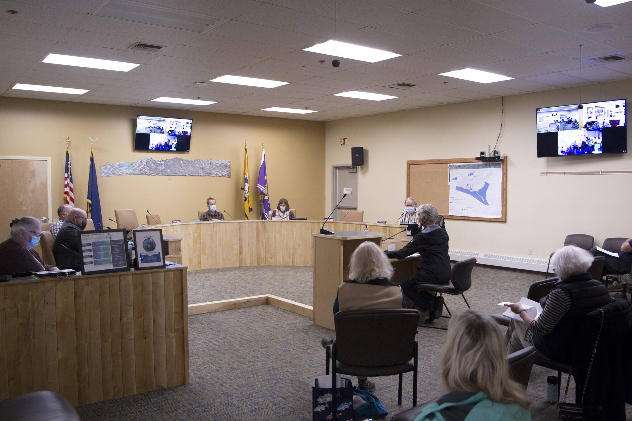 Janie Leask, a Homer resident, spoke in support of the new multi-use community center during Monday night's city council meeting, stating the need for community recreation is vital.
