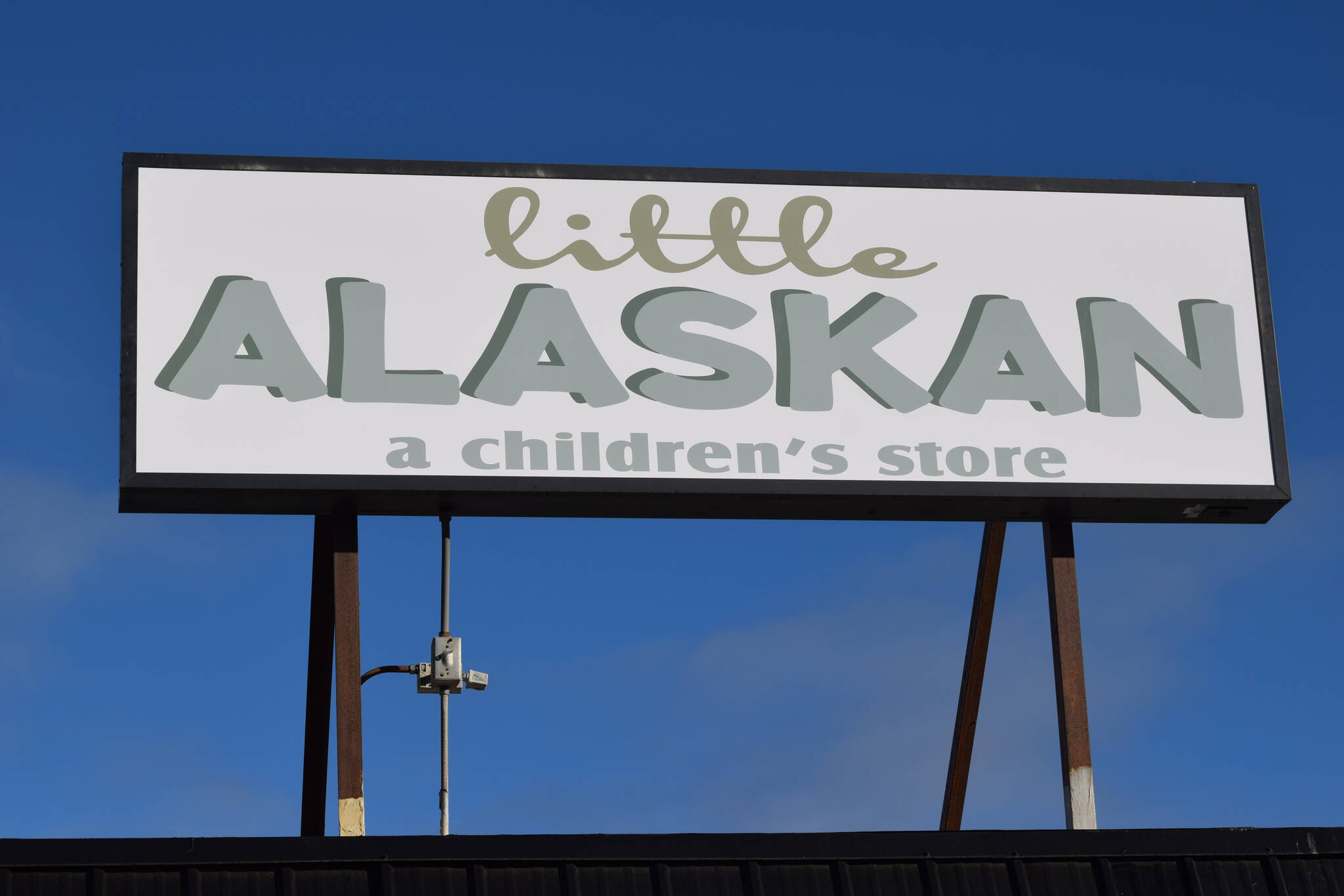The Little Alaskan children's store is seen in Kenai on Sunday, Oct. 24, 2021. Located where Bargain Basement used to be in Kenai, the shop opened this weekend. (Camille Botello/Peninsula Clarion)